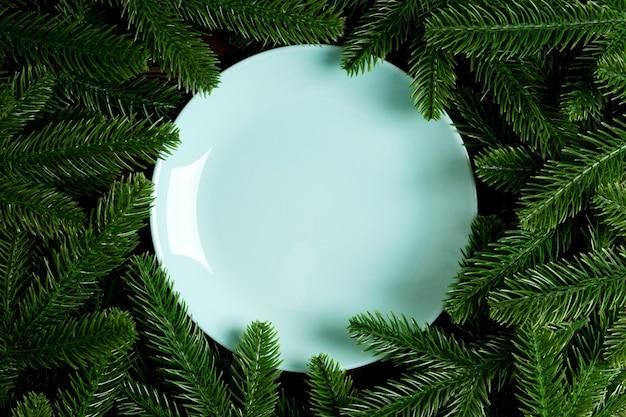 크리스마스 접시 장식.