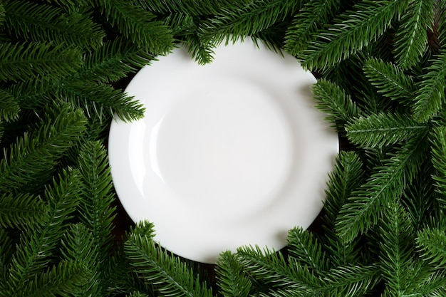 クリスマスプレートの装飾