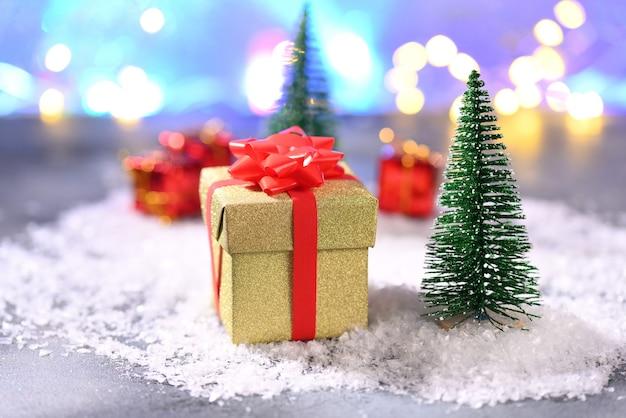 Christmas present on the christmas tree