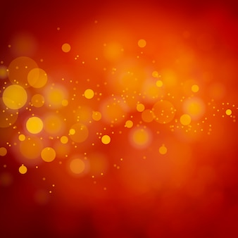 Christmas red glitter light bokeh abstract background.