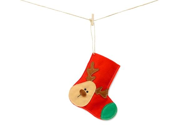 Christmas red sock