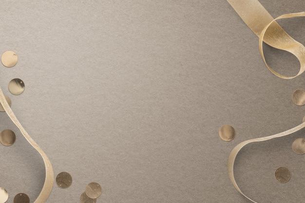 デザインスペースとクリスマスリボンソーシャルメディアバナーの背景