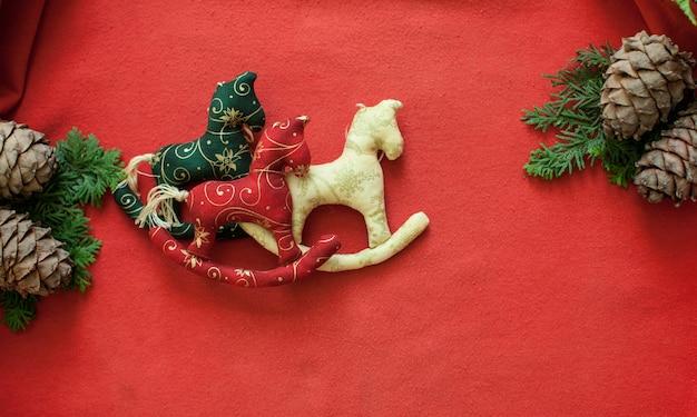 クリスマスロッキング馬