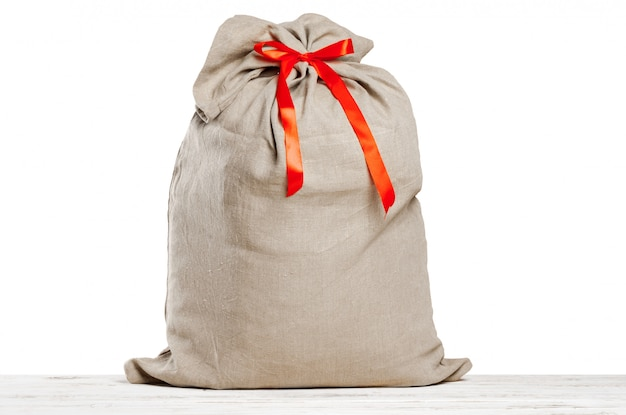 Christmas sack full of gifts