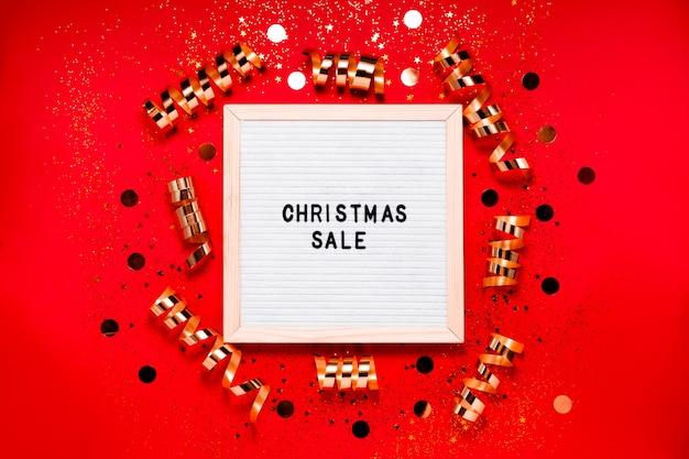 Рождественская распродажа доска для писем