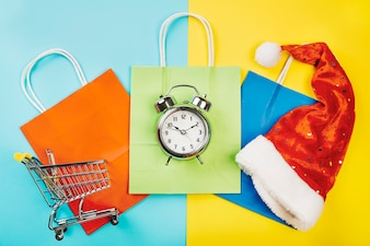 Christmas sales concept with alarm