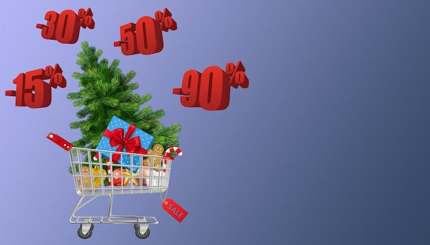 Christmas sales discount offers shopping concept