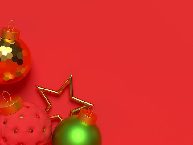 3d要素を持つクリスマスシーン。