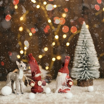 Christmas scene with light background
