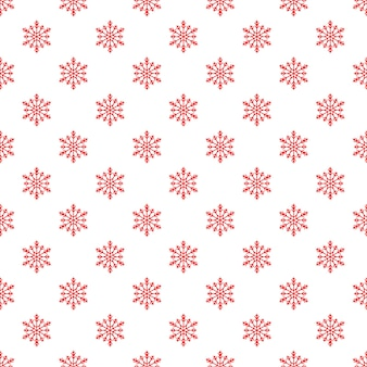Christmas seamless pattern with snowflakes on white background. endless christmas pattern