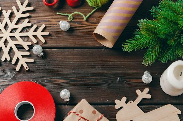 Christmas season,  preparation accessories, top view