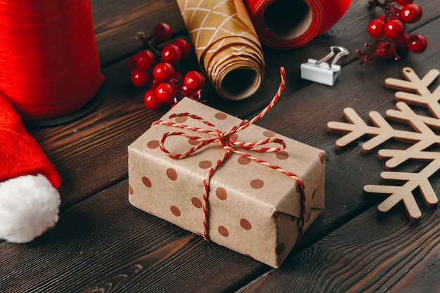 Christmas season with gift box accessories