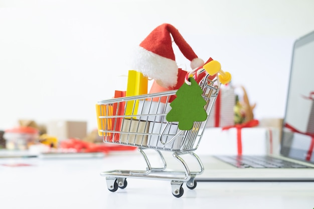Christmas shopping online.