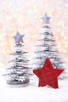 Рождественские сани с концепцией празднования праздника. Premium Фотографии