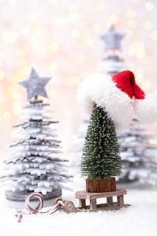 Рождественские сани с концепцией празднования праздника