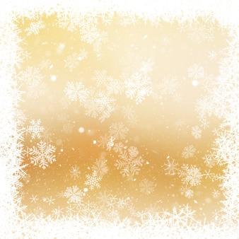 クリスマススノーフレークの背景