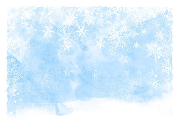 クリスマスの雪と星