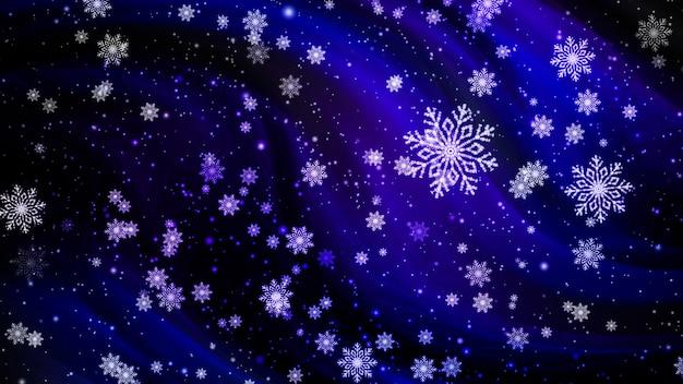 Рождество снежинки праздник синий цвет фона