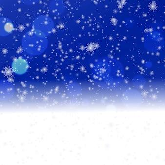 Рождественские снежинки праздник градиентный фон