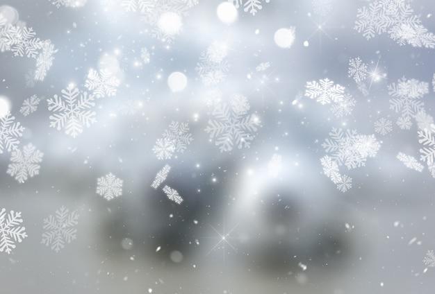 Christmas snowflakes and stars