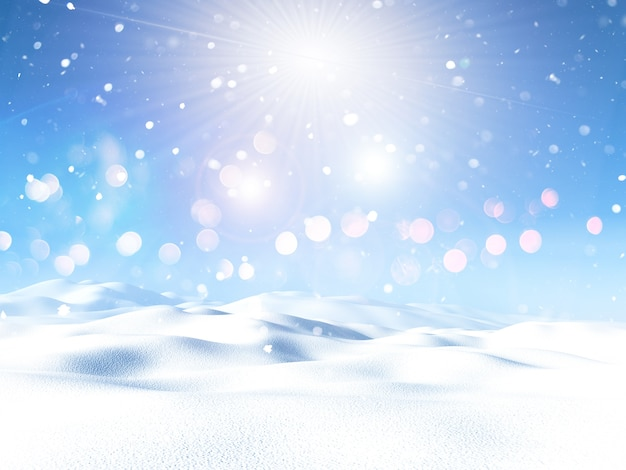 Christmas snowy landscape