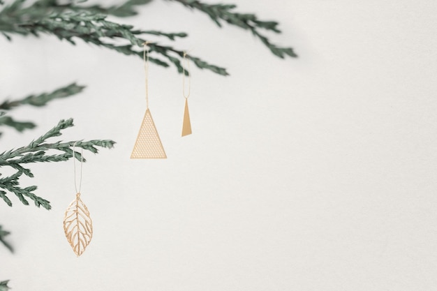 Christmas social media banner background with design space