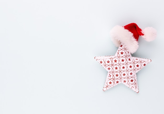 Christmas star on blue background