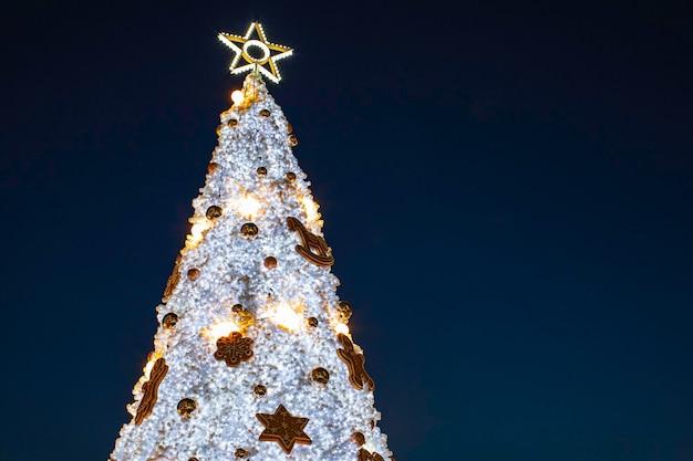 Christmas star sky