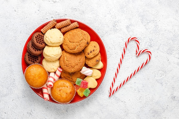 Christmas sweets platter.