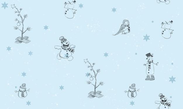 クリスマスのシンボルのシームレスなパターン