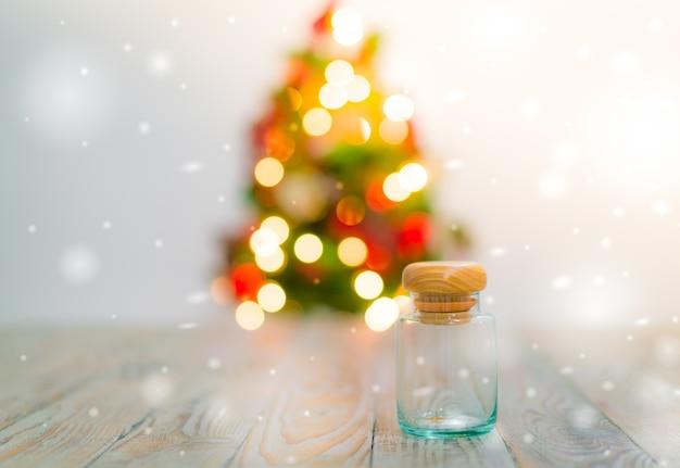 Рождественский стол фон с украшениями