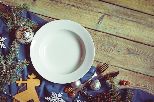 Christmas table place setting
