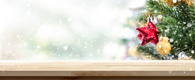 Christmas table top background