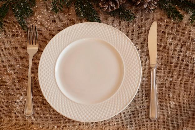 クリスマステーブルトップビュー