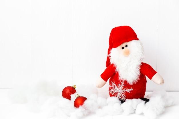 산타 클로스와 복사 공간 크리스마스 테마 장식