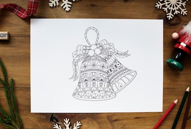 クリスマスのテーマの図