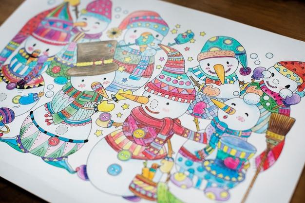 Christmas theme drawings