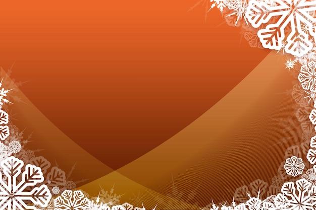 Christmas themed snow flake frame