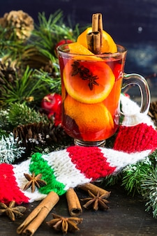 Christmas time mulled wine