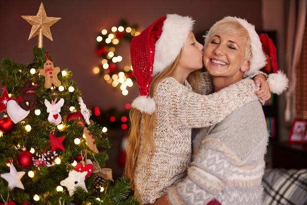 내 어린 소녀와 함께 크리스마스 시간