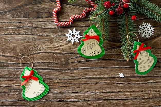 子供の創造性手工芸品のクリスマスおもちゃギフトファーツリー手作りプロジェクト