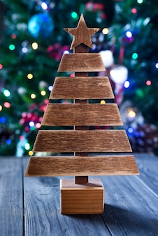 Christmas tree on background