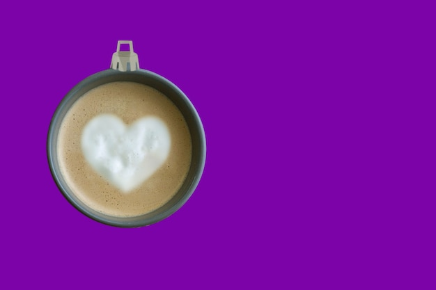 Christmas tree ball made of coffee cup  purple background