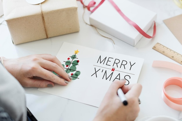 クリスマスツリーのお祝いの見掛け倒しの概念