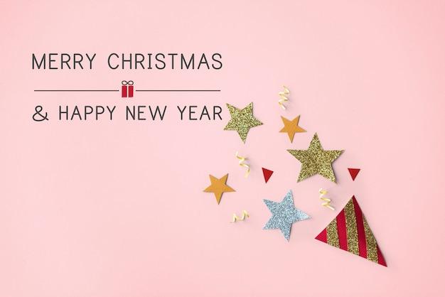 クリスマスツリーのお祝いティンセルコンセプト