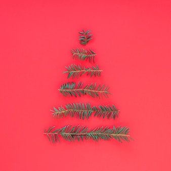 Christmas tree from fir tree branches