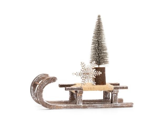 Рождественская елка, изолированные на белом