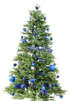 白で隔離のクリスマスツリー