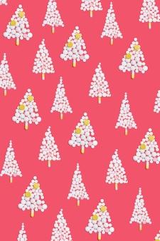 Рождественская елка из таблеток на рождество, концептуальный фон на новогоднюю тему для медицины и аптеки