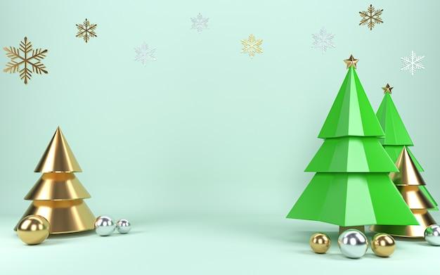 Украшение концепции сцены рождественской елки с пустым пространством для текста.